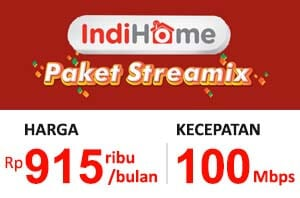 Paket Streamix 100 Mbps (Internet + TV)