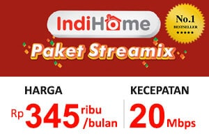 Paket Streamix 20 Mbps (Internet + TV)
